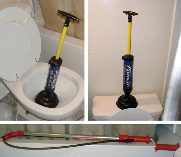 débouchage toilette wc avec pompe à vide